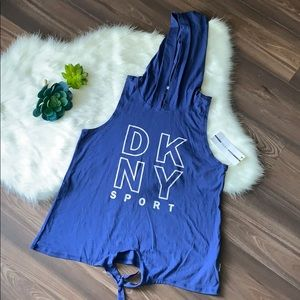 NWT DKNY SPORT sleeveless hoodie